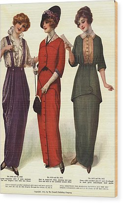 1910s Usa Womens Wood Print by The Advertising Archives