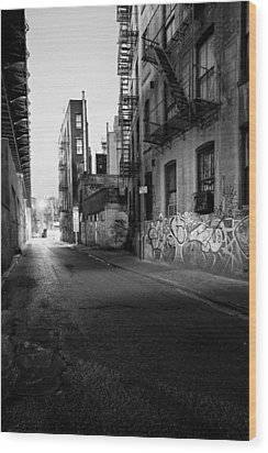 Chinatown New York City - Mechanics Alley Wood Print by Gary Heller