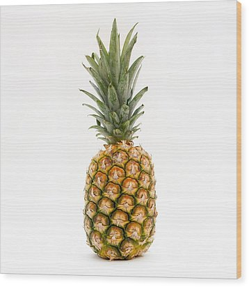 Fresh Pineapple Wood Print by Bernard Jaubert