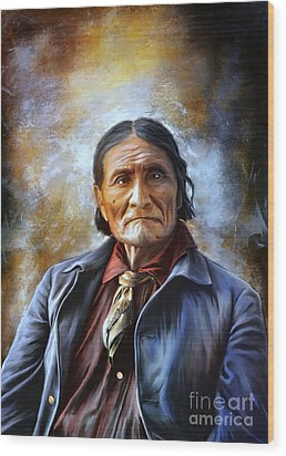 Geronimo Wood Print by Andrzej Szczerski