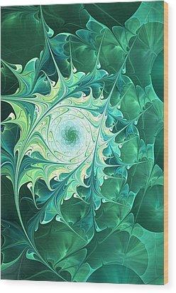 Green Magic Wood Print by Anastasiya Malakhova