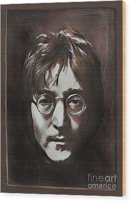 John Lennon Wood Print by Andrzej Szczerski