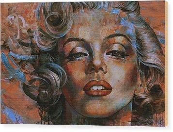 Marilyn Monroe Wood Print by Arthur Braginsky