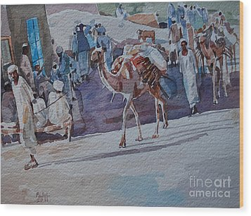 Market Wood Print by Mohamed Fadul