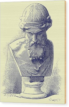 Plato Wood Print by Chapuis