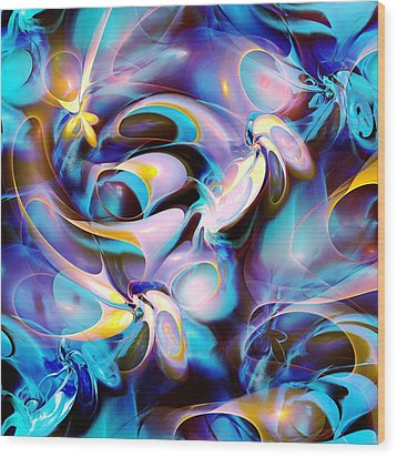 Pleasant Shapes Wood Print by Anastasiya Malakhova