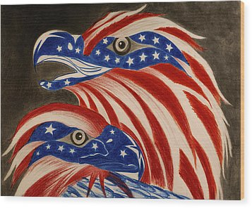 Proud Of Eagle Wood Print by Jalal Gilani