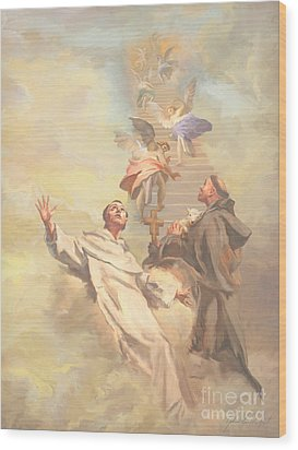Saint Benedict And Saint Francis Of Assisi Wood Print by John Alan  Warford