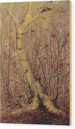 The  Loving  Tree Wood Print by Beth Arroyo