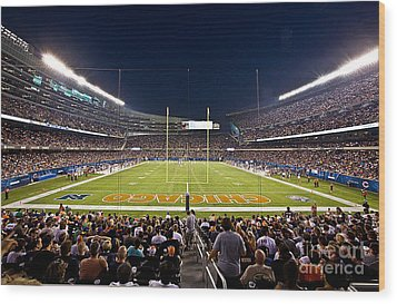 0588 Soldier Field Chicago Wood Print by Steve Sturgill