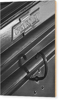 1937 Chevrolet Custom Pickup Emblem Wood Print by Jill Reger