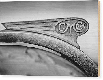 1938 Gmc Hood Ornament Wood Print by Jill Reger
