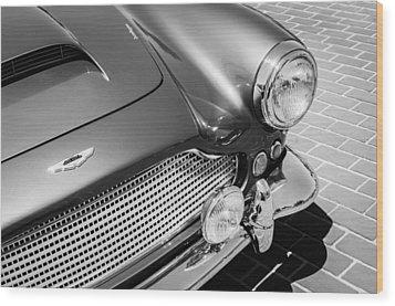1960 Aston Martin Db4 Series II Grille Wood Print by Jill Reger