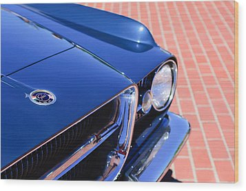 1962 Ghia L6.4 Coupe Grille Emblem Wood Print by Jill Reger