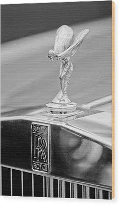 1984 Rolls-royce Silver Spur Hood Ornament Wood Print by Jill Reger