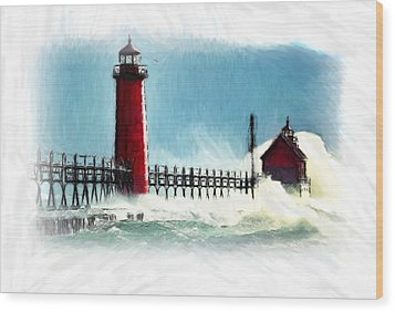 A Day At The Coast Wood Print by Steve K