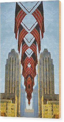 American Architecture Wood Print by Dan Sproul