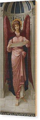 Angels Wood Print by John Melhuish Strudwick