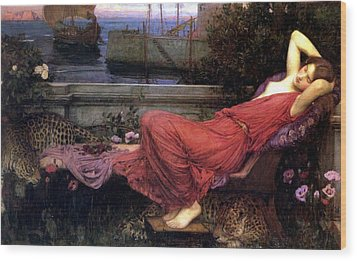 Ariadne Wood Print by John William Waterhouse
