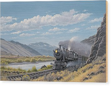 At Point Of Rocks-bound For Livingston Wood Print by Paul Krapf