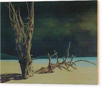 Avant L Orage Wood Print by Guillaume Bruno