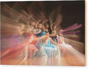 Ballet Wood Print by Okan YILMAZ