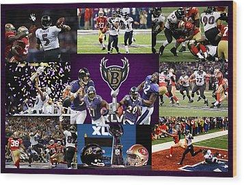 Baltimore Ravens Wood Print by Joe Hamilton