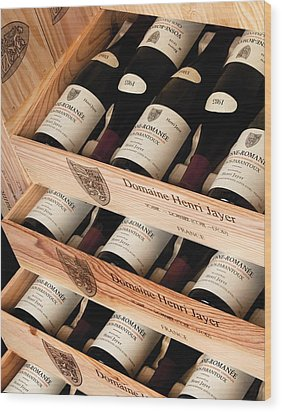 Bottles Of Vosne-romanee Premier Cru Cros Parantoux Wood Print by Anonymous