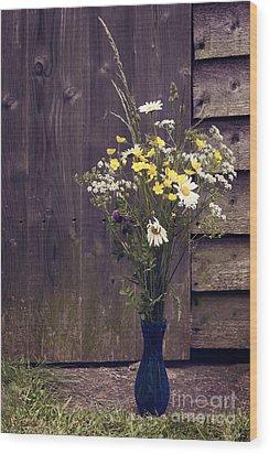 Bouquet Wood Print by Svetlana Sewell
