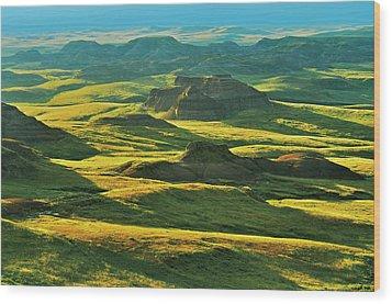 Canada, Saskatchewan, Grasslands Wood Print by Jaynes Gallery