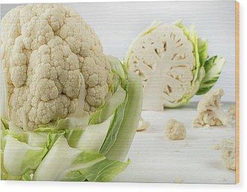 Cauliflower Wood Print by Aberration Films Ltd
