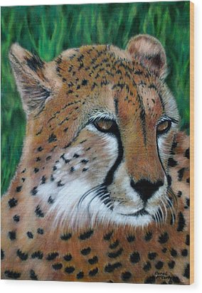 Cheetah Wood Print by Carol McCarty