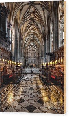 Church Interior Wood Print by Adrian Evans