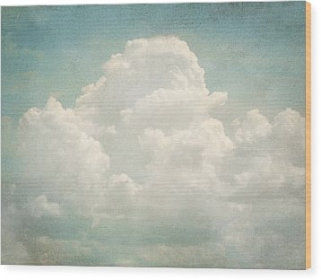 Cloud Series 3 Of 6 Wood Print by Brett Pfister
