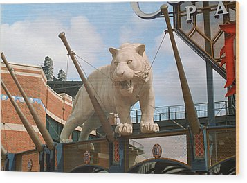 Comerica Park - Detroit Tigers Wood Print by Frank Romeo