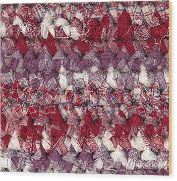 Crochet Rag Rug Wood Print by Kerstin Ivarsson