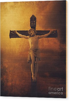 Crucifixcion Wood Print by Jelena Jovanovic
