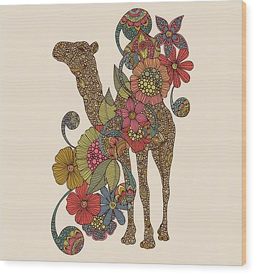 Easy Camel Wood Print by Valentina