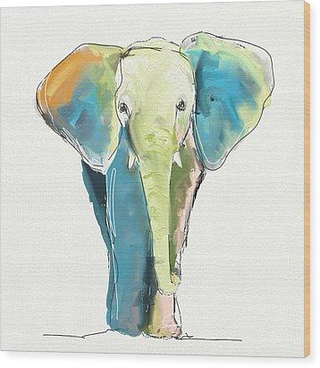 Ellie Wood Print by Cathy Walters