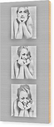 Emotions Wood Print by Kristie  Bonnewell