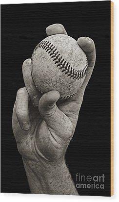 Fastball Wood Print by Diane Diederich
