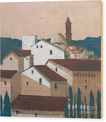 Florence Rooftops Wood Print by Micheal Jones