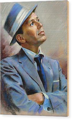 Frank Sinatra  Wood Print by Ylli Haruni