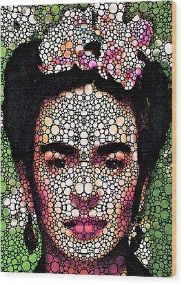 Frida Kahlo Art - Define Beauty Wood Print by Sharon Cummings
