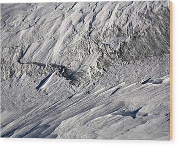 Glacier Wood Print by Frank Tschakert