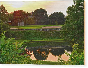Golf Course Beauty Wood Print by Frozen in Time Fine Art Photography