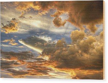 Heavenly Skies  Wood Print by Saija  Lehtonen