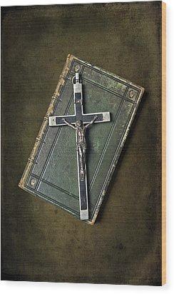 Holy Book Wood Print by Joana Kruse