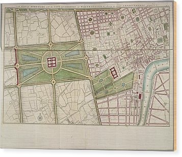 Hyde Park Wood Print by British Library
