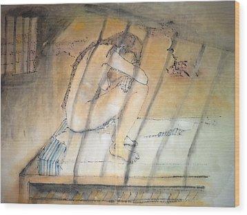 Inside Mental Illness Album Wood Print by Debbi Chan